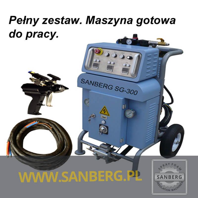 Ogromny Maszyna do Natrysku Pianki Poliuretanowej Sanberg SG-300 VK98